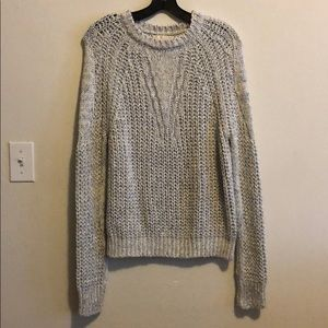 New Maje open knit metallic crochet pullover